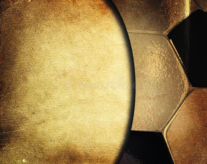 Fußballkugel-Weinlesehintergrund lizenzfreies stockfoto