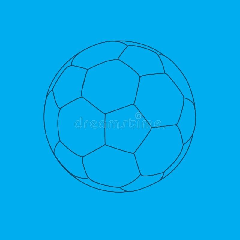 Fußballkugellichtpause. stock abbildung