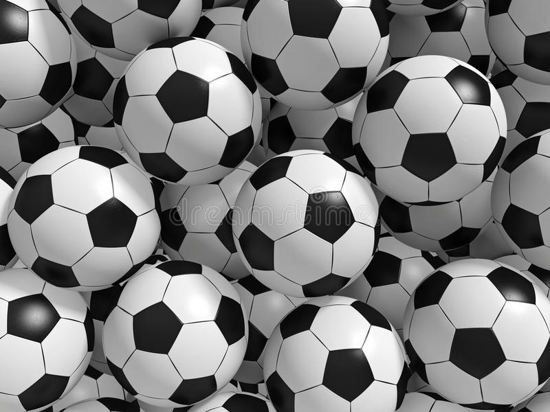 Fußballkugeln vektor abbildung