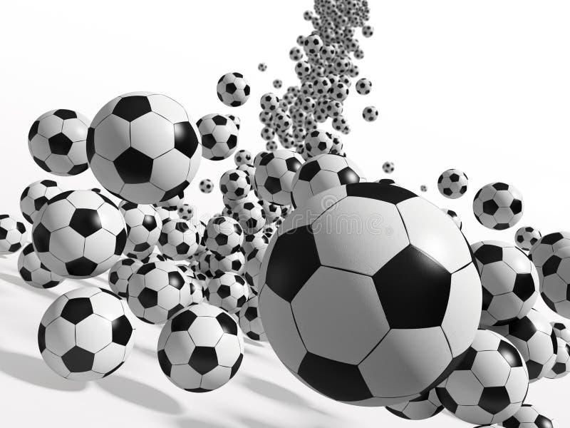 Fußballkugeln lizenzfreie abbildung
