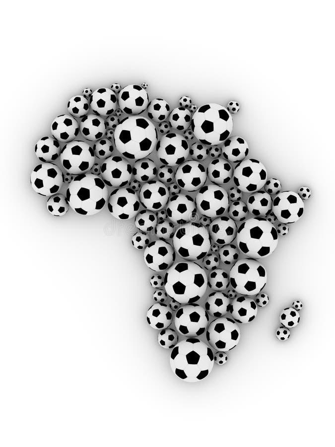 Fußballkugeln in der Afrika-Form vektor abbildung