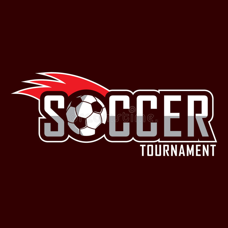 Fußballlogo, Amerika-Logo, klassisches Logo lizenzfreie abbildung
