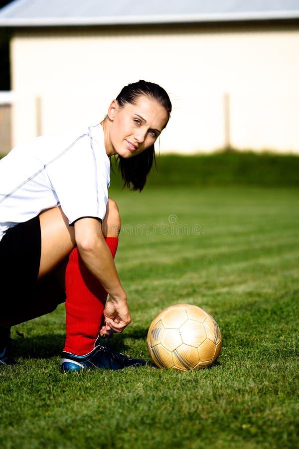 Fußballmädchen lizenzfreie stockfotos