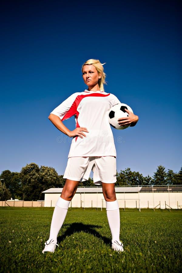 Fußballmädchen stockfotos