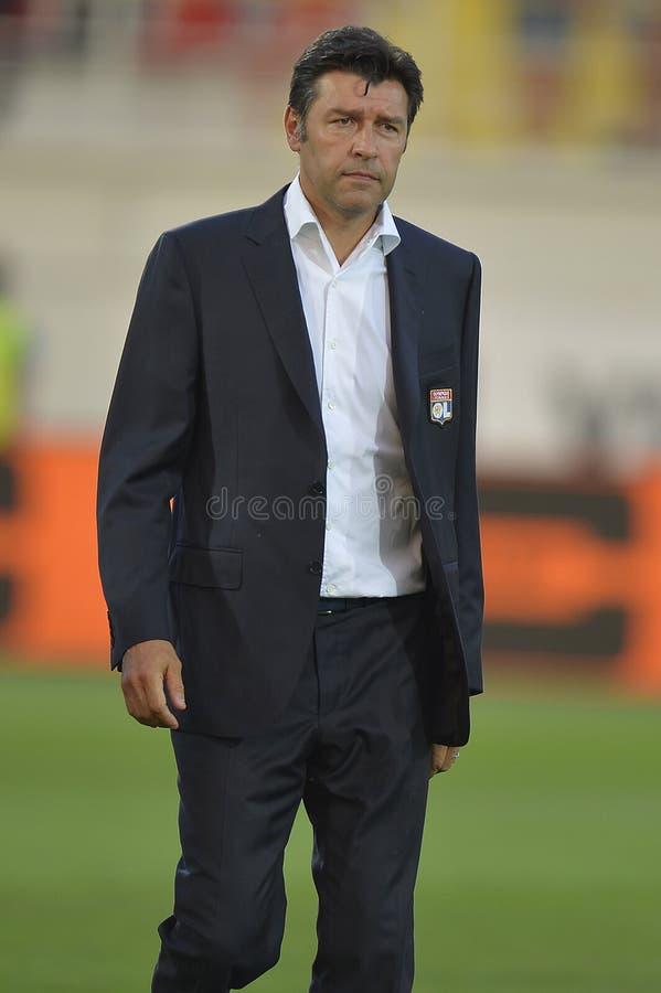 Fußballmanager - Hubert Fournier stockfotos