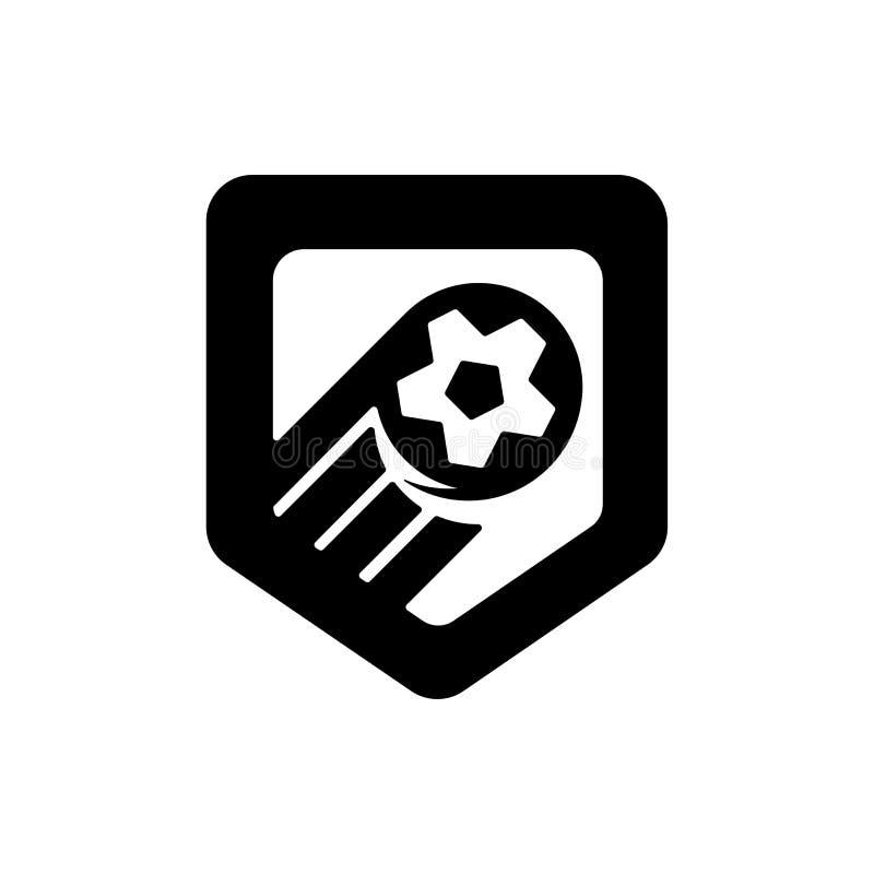 Fußballmeisterschaftslogo Vector Illustration des abstrakten Fußballs für Ihr Design vektor abbildung