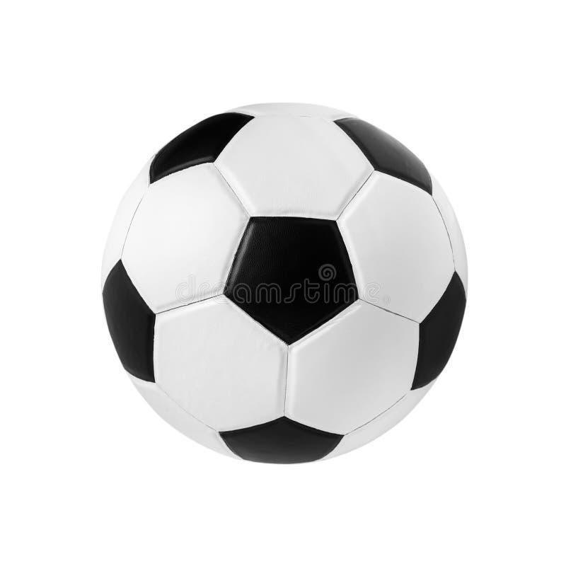 Fußballnahaufnahmebild Fußball auf lokalisiert lizenzfreies stockfoto