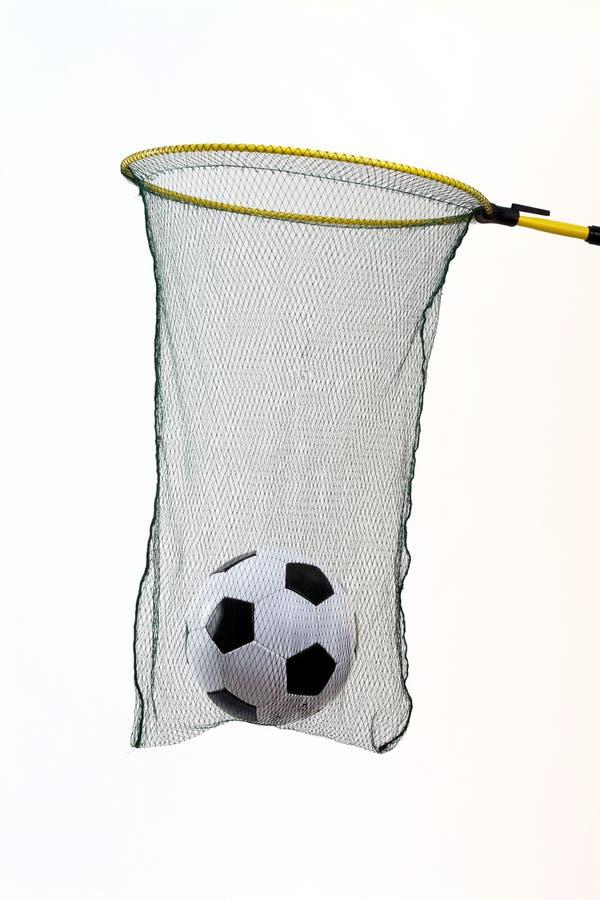 Fußballnetz lizenzfreies stockbild