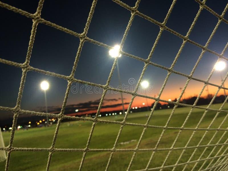 Fußballnetz stockfotos