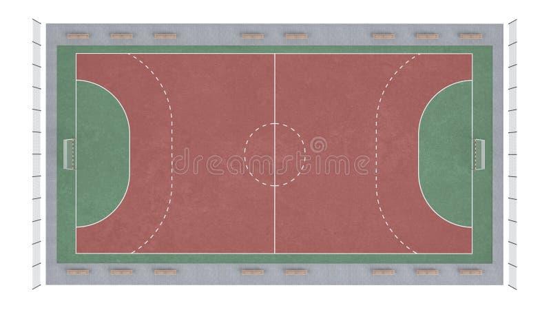 Fußballnicken stock abbildung