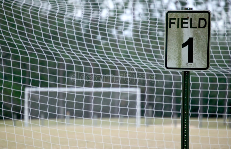 Fußballplatz 1 - Farbe Stockbilder