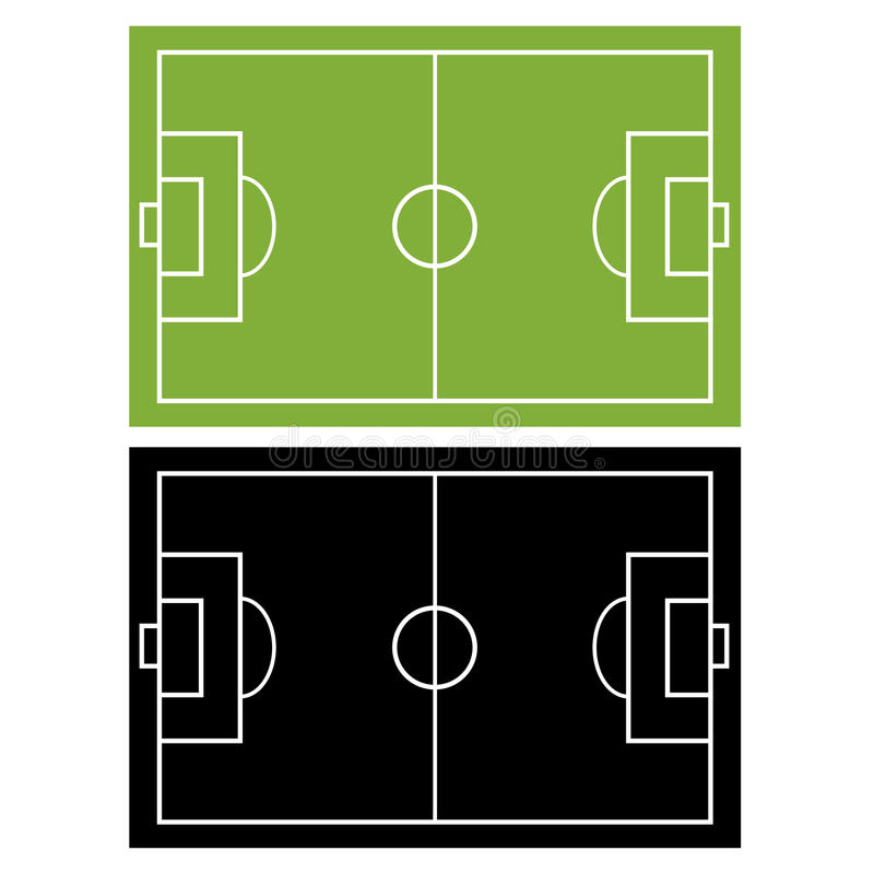 Fußballplatz lizenzfreie abbildung