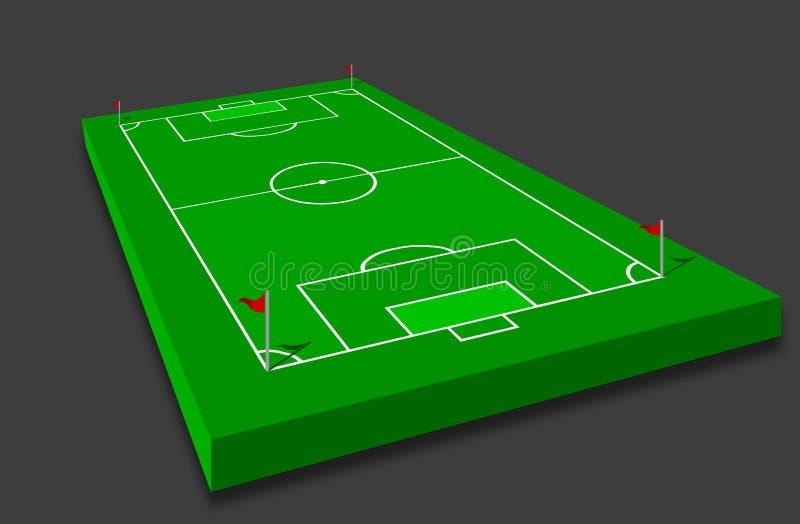 Fußballplatz stock abbildung