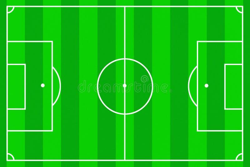 Fußballplatz als Hintergrund stock abbildung