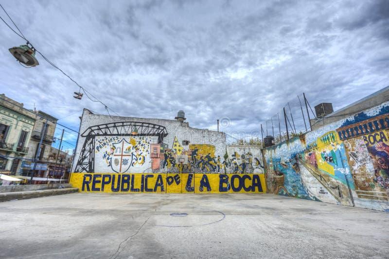Fußballplatz in Buenos Aires, Argentinien stockfotografie