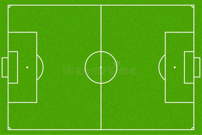 Fußballplatz oder Fußballplatz, Vektor EPS10 lizenzfreie abbildung