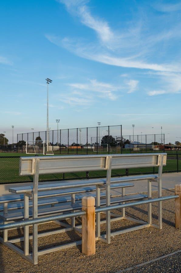 Fußballplatz in Shepparton, Australien lizenzfreie stockbilder
