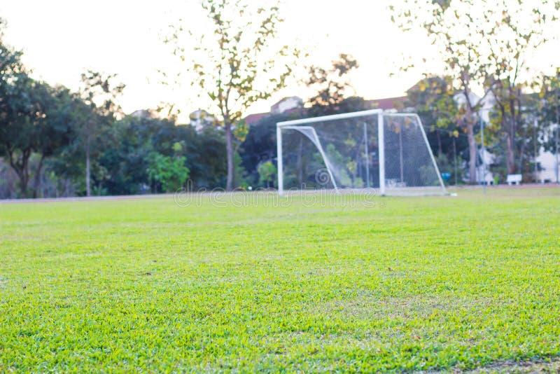 Fußballplatzgras, grün lizenzfreie stockbilder