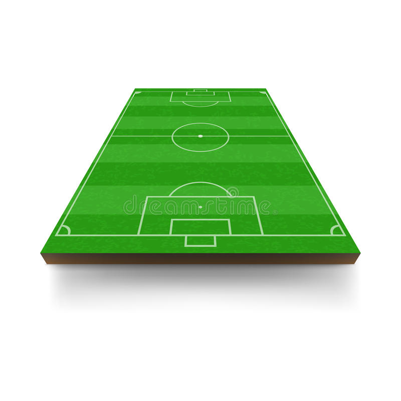 Fußballplatzikone, Karikaturart vektor abbildung