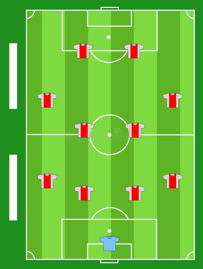 Fußballplatzteam lizenzfreie abbildung