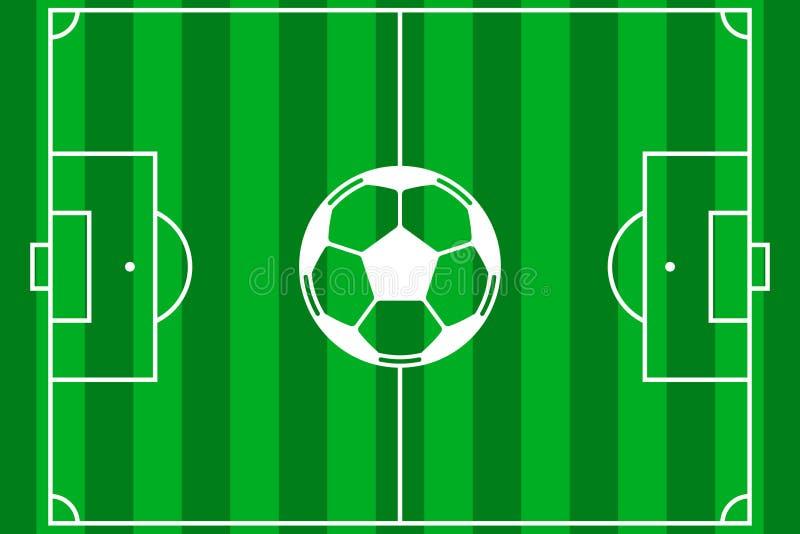 Fußballplatzvektor lizenzfreie abbildung