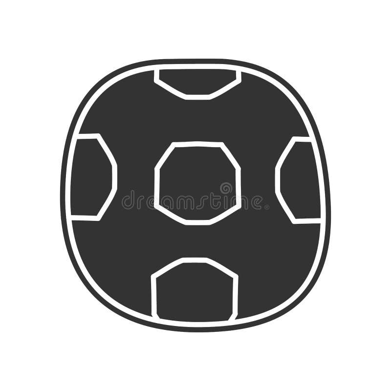 Fußballskizzenikone Element der Bildung für bewegliches Konzept und Netz apps Ikone Glyph, flache Ikone für Websiteentwurf und stock abbildung