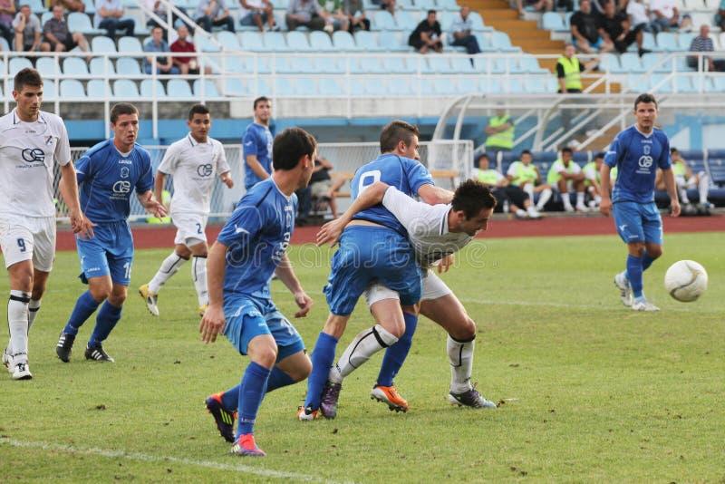 Fußballspiel stockbild