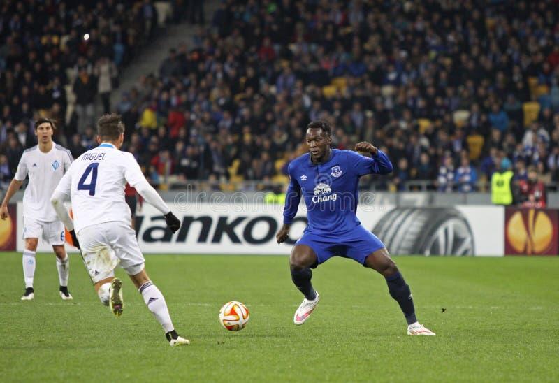 Fußballspiel-FC Dynamo Kyiv gegen FC Everton lizenzfreie stockfotografie