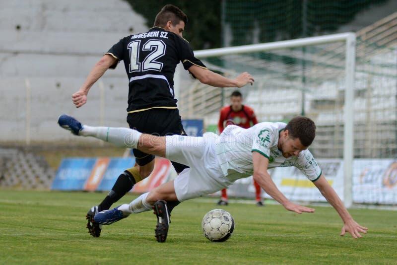 Fußballspiel Kaposvar - Szombathely stockbilder