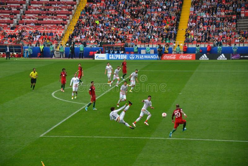 Fußballspiel zwischen Portugal und Mexiko in Moskau am 2. Juni 2017 lizenzfreie stockbilder