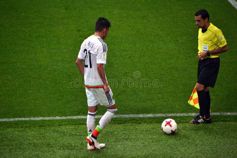 Fußballspiel zwischen Portugal und Mexiko in Moskau am 2. Juni 2017 lizenzfreies stockbild