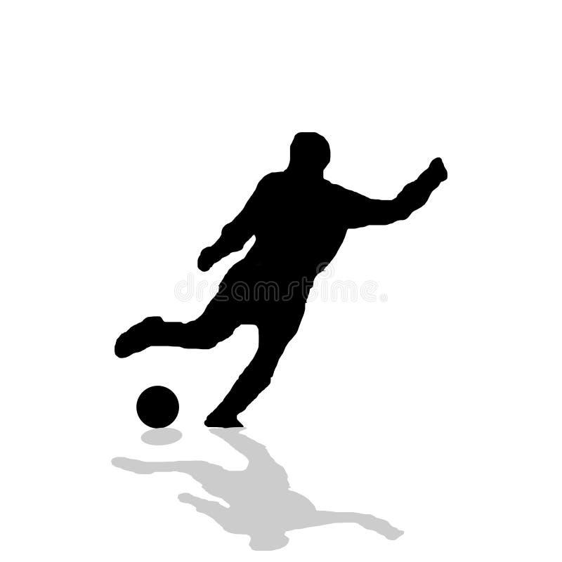 Fußballspieler lizenzfreie abbildung