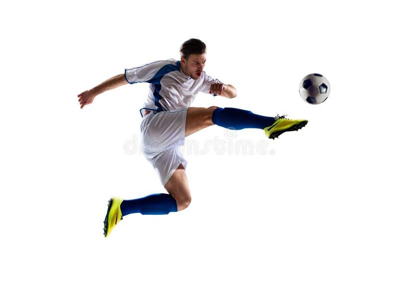 Fußballspieler in der Tätigkeit stockfotos