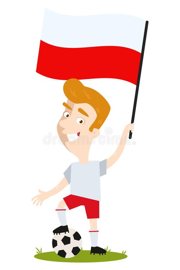 Fußballspieler von Polen vektor abbildung. Illustration von