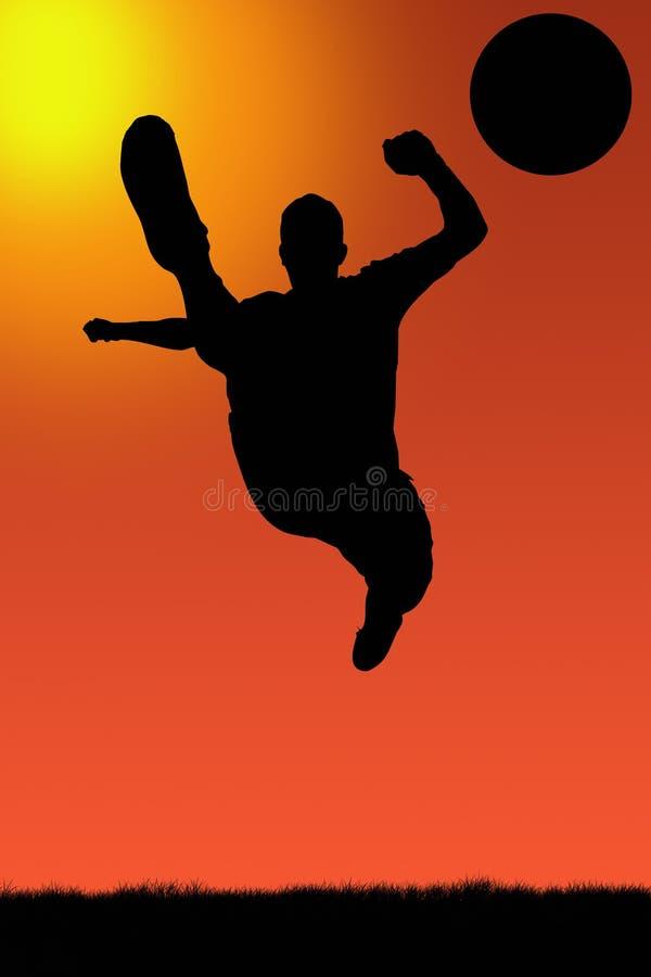 Fußballspieler illu stockbild
