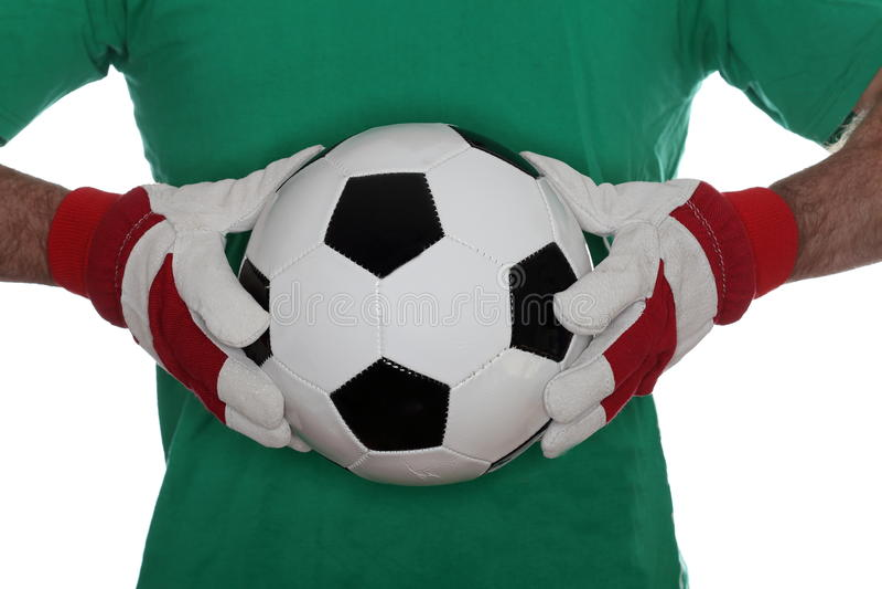 Fußballspieler mit grünem Hemd lizenzfreies stockbild