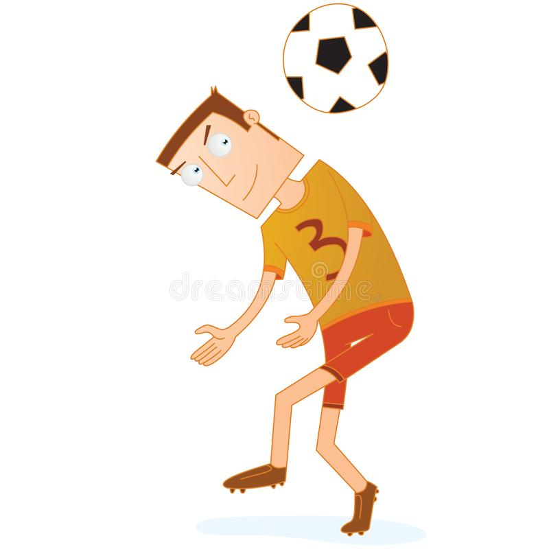 Fußballspieler sind bereit, den kommenden Ball voranzugehen vektor abbildung