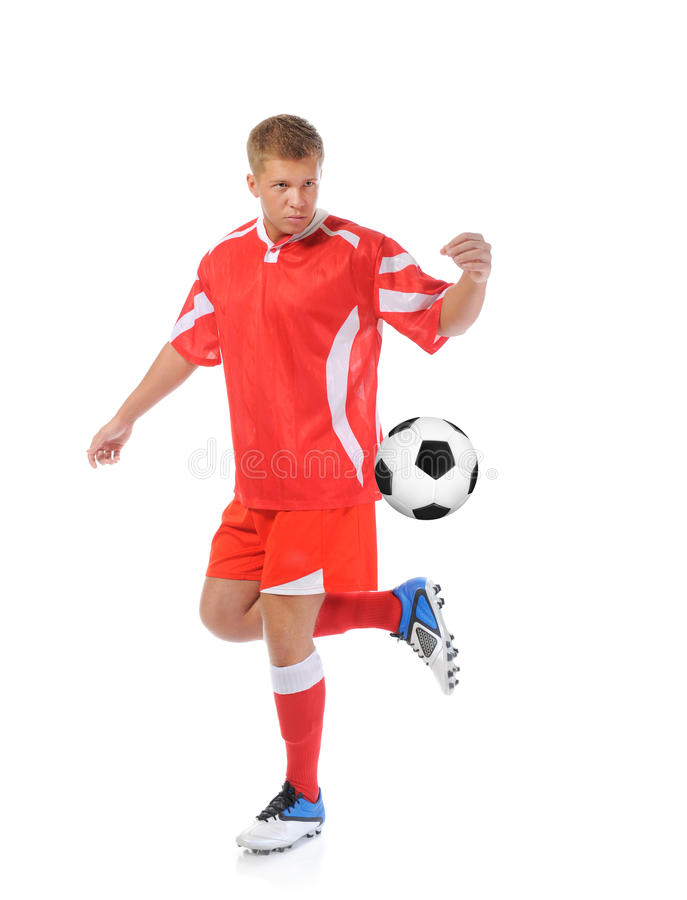 Fußballspielerspieler stockfoto