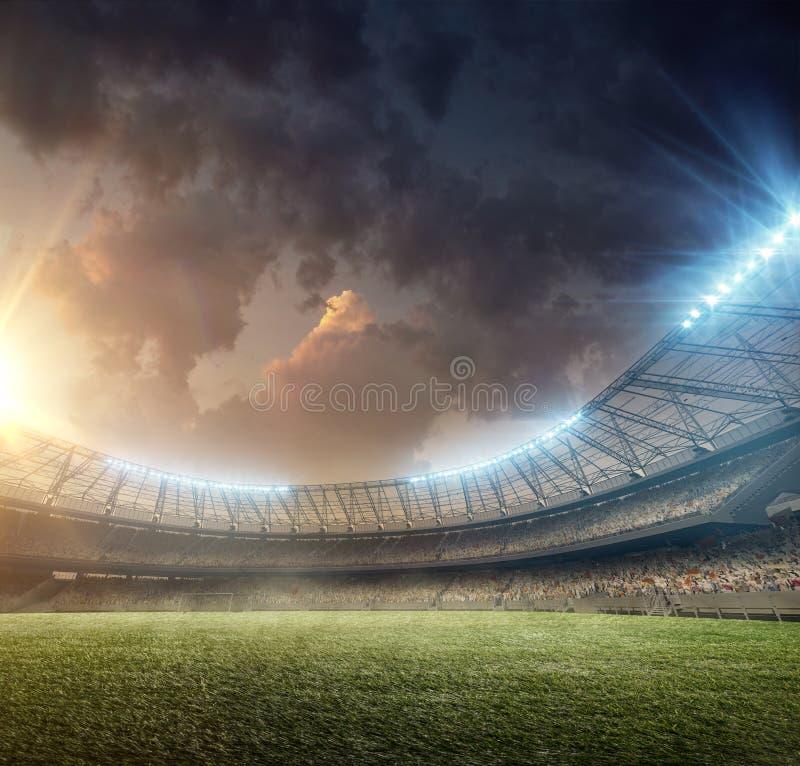 Fußballstadion 1 lizenzfreies stockbild