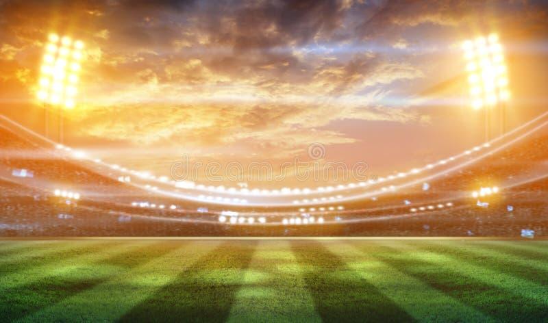 Fußballstadion 3D lizenzfreie stockfotos