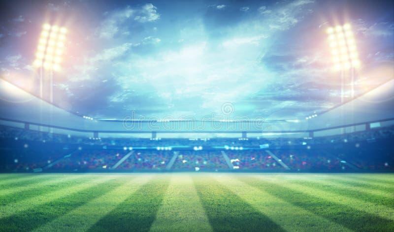 Fußballstadion 3D stockbilder