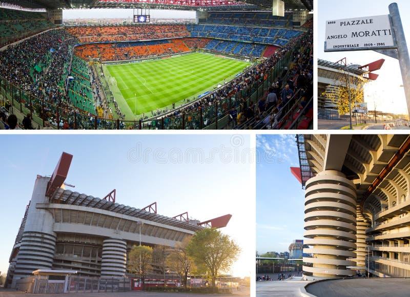 Fußballstadion Giuseppe-Meazza lizenzfreies stockbild