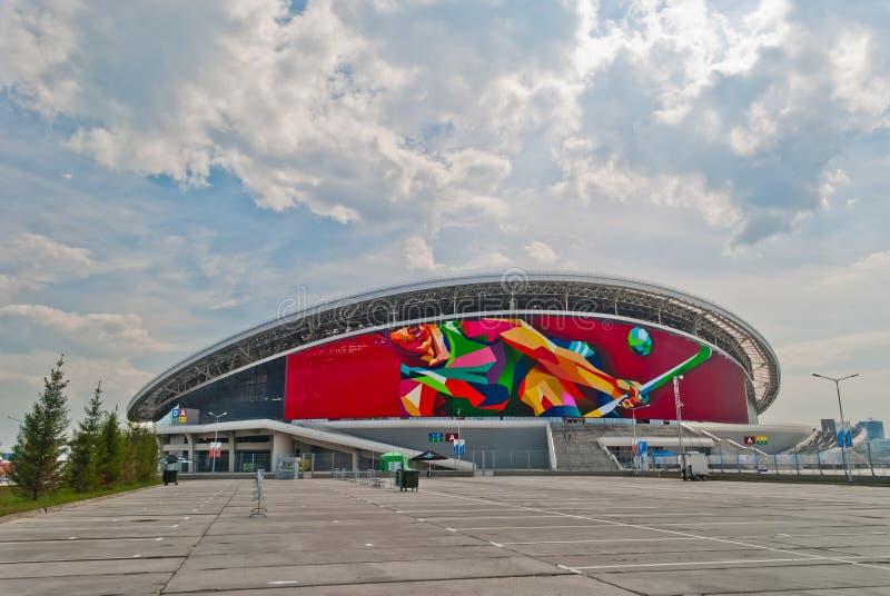 Fußballstadion Kasan-Arena lizenzfreie stockbilder