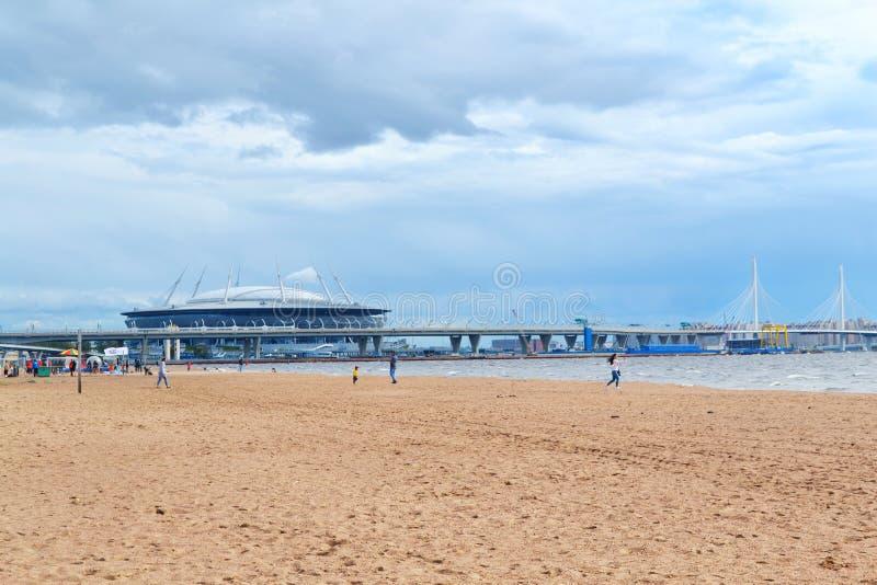 Fußballstadion ` St- Petersburgarena ` auf Krestovsky-Insel in St Petersburg für den Weltcup 2018 in Russland stockfoto