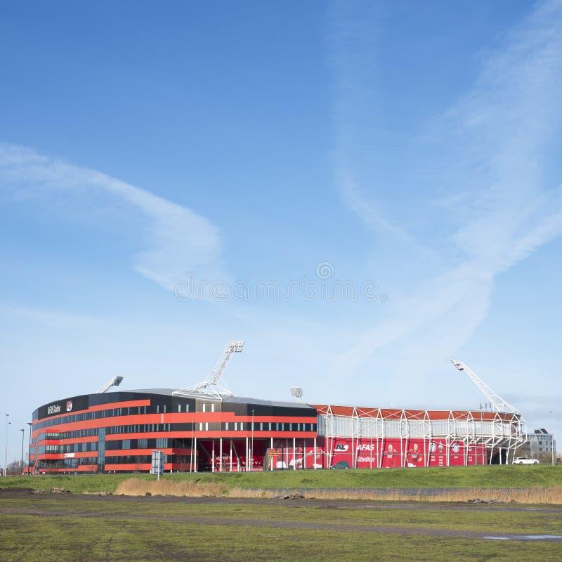 Fußballstadion von az Alkmaar in den Niederlanden lizenzfreies stockbild