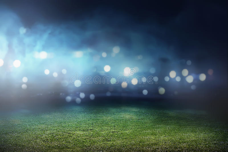 Fußballstadionshintergrund stockfoto