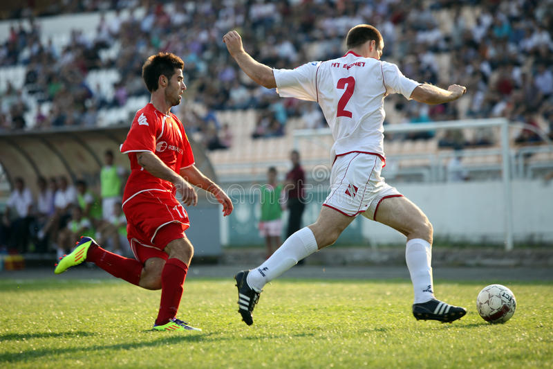 Fußballstadt Derby HSK Zrinjski Mostar V FK Velez M lizenzfreie stockfotos