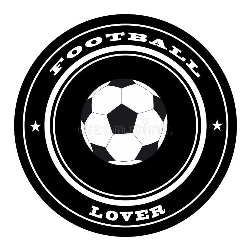 Fußballstempel lizenzfreie abbildung