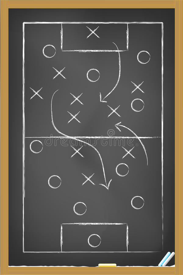 Fußballstrategie stock abbildung