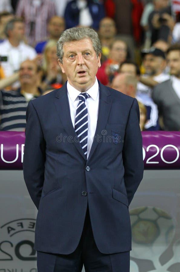 Fußballteam-Cheftrainer Roy-Hodgson - Englands stockbilder